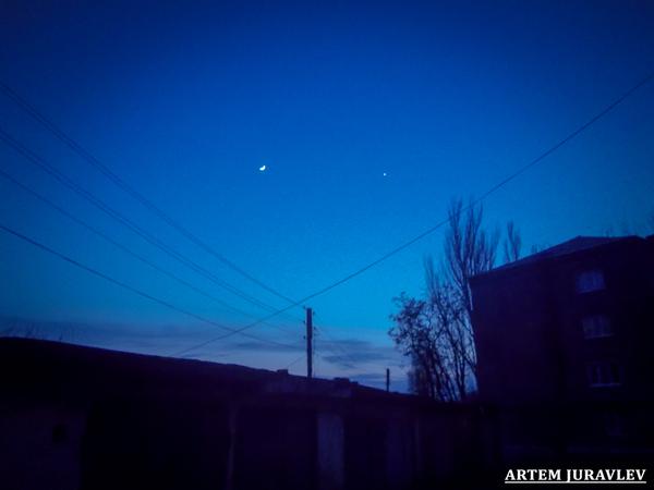 Венера и Луна венера, луна, фотография, астрофото, астрономия