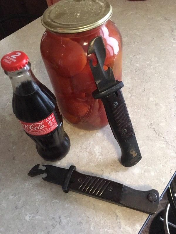 Брутальная открывашка штык-нож, открывашка, фотография, длиннопост
