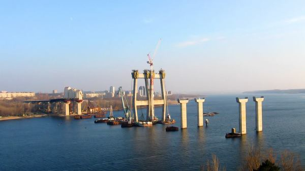 В Запорожье наконец-то достроят мост, строительство когорого начато почти 20 лет назад Запорожье, Мост, ЧСЗ, Наконец-То