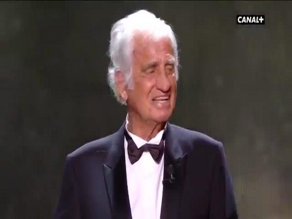Жан Поль-Бельмондо едва сдержал слезы Жан Поль-Бельмондо, Знаменитости, Церемония