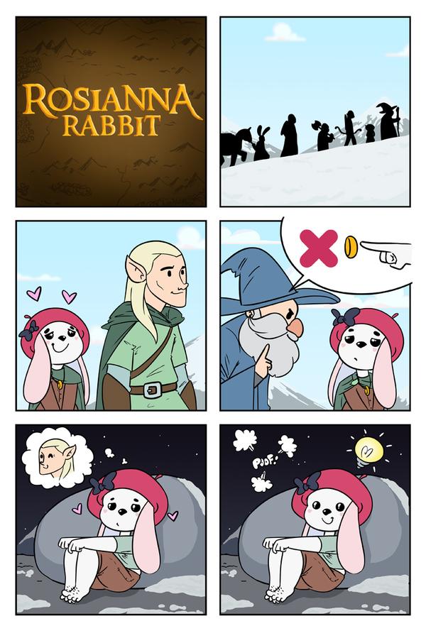 Кольцо Всевластия Комиксы, Rosianna rabbit, Кольцо всевластия, Длиннопост
