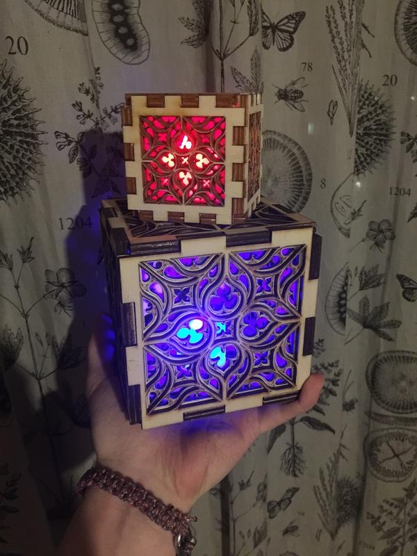 Готишный чехольчик для светодиодной свечки сделал, вот: