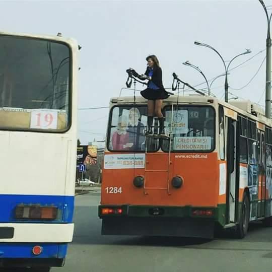 Вот такие у нас в Кишинёве водители троллейбуса