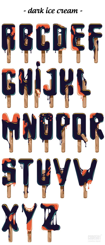 Мрачный понедельник, мрачный шрифт. Code501, Шрифт, Гифка, Длиннопост, Иллюстрации, Мнение, Видео