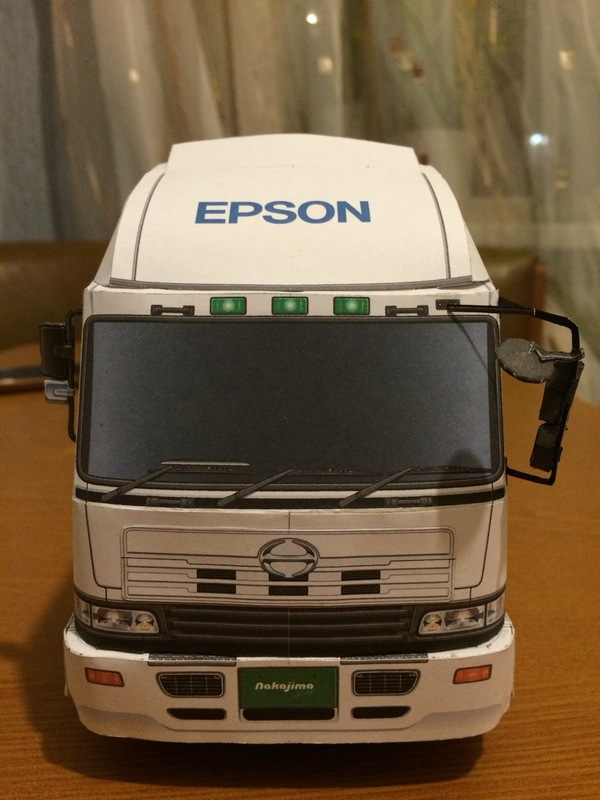Hino Profi 2005' 1:25 Epson, Rally sport, Hino profi, Truck, Япония, 1:25, Грузовик из бумаги, Papercraft, Длиннопост