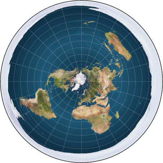 карта плоской земли скачать
