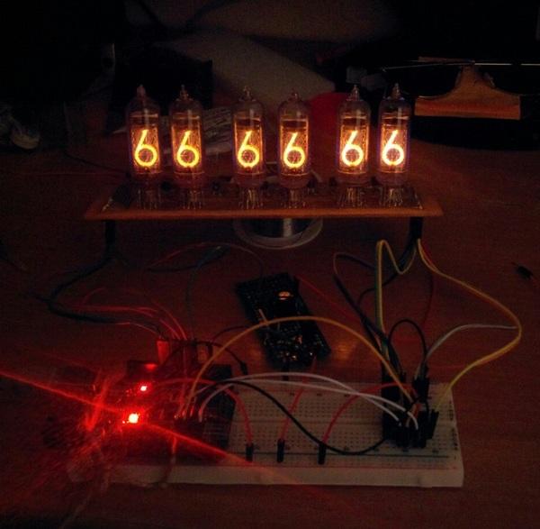 Часы на газоразрядных индикаторах ИН-14 с помощью Arduino nano. arduino, nixie clock, ИН-14, газоразрядные индикаторы, своими руками, длиннопост