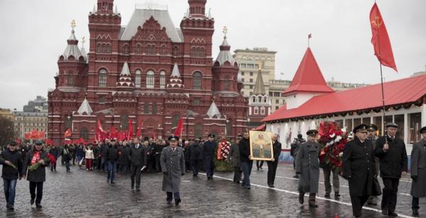 Вот такой церковный коммунизм Красная площадь, КПРФ, Зюганов, Сталин, Икона