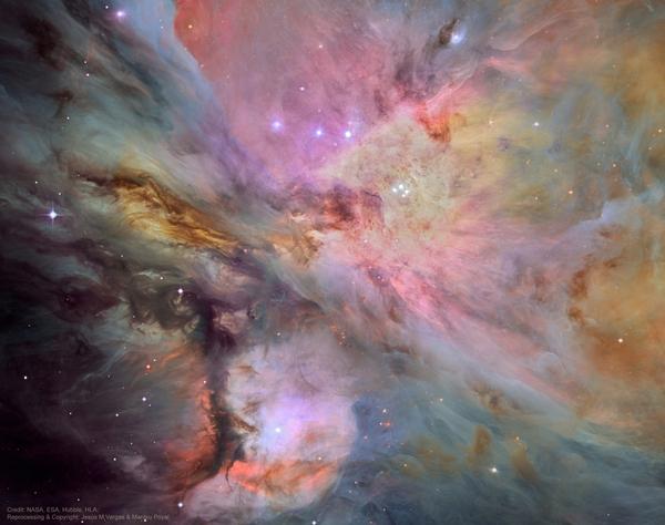Пыль, газ и звезды в туманности Ориона Космос, Туманность Ориона