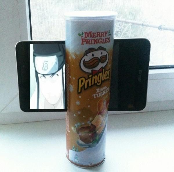 Подставка для планшета Pringles, Планшет, Держатель для планшета, Лайфхак, Длиннопост
