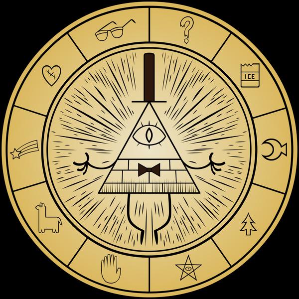 Помни! Реальность — иллюзия, вселенная — голограмма, скупай золото, пока! Gravity Falls, GameFIT, Подставка, Кофе, Bill Cipher