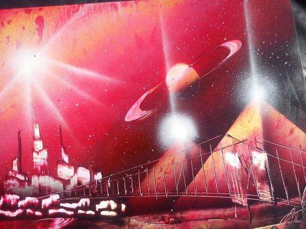 Картина баллончиком и шпателем за 10 минут Картина, Баллончик, Краски, Уличные художники, Speed painting, Космос, Видео, Длиннопост
