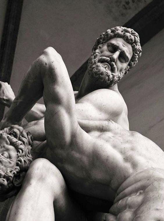 Геракл разминает позвоночник кентавру мрамор, Геракл, скульптура, кентавр, массаж, длиннопост