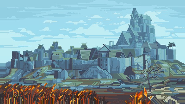 Skyrim Pixel Art, Фан-Арт, Skyrim, The Elder Scrolls, Арт, Игры, Гифка