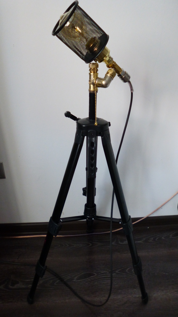 ХЗЧ-7 или... Торшер, творчество, светильник, ХЗЧ, лампа Эдисона, ночник, длиннопост