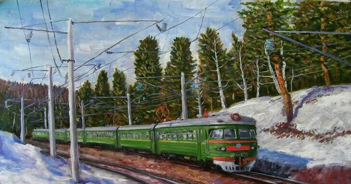 Железные дороги в рисованных картинках