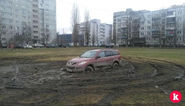 Дрифтинг на лужайке Дрифтер, Калининград, Грязь