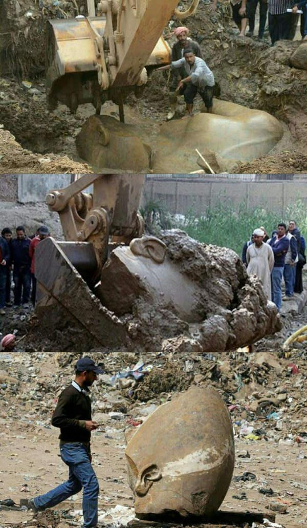 Огромную 3000-летнюю статую Рамсеса II нашли археологи в трущобах столицы Египта Археология, История, Египет, Фараон, Открытие, Длиннопост