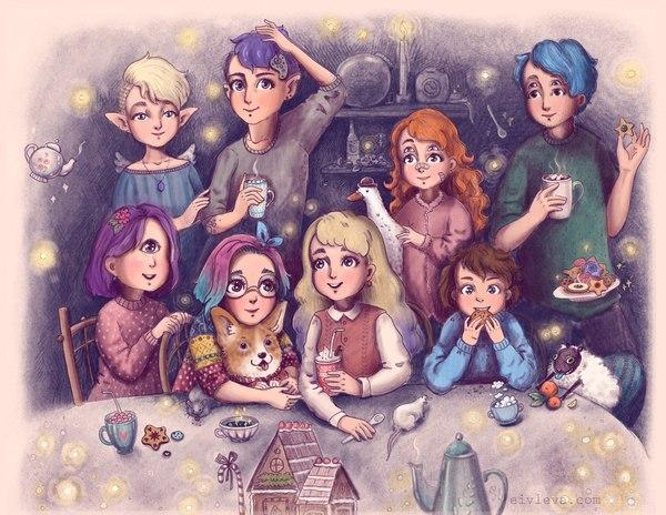 Иллюстрации рисунок, арт, компьютерная графика, магия, фантастические твари, иллюстрации, длиннопост