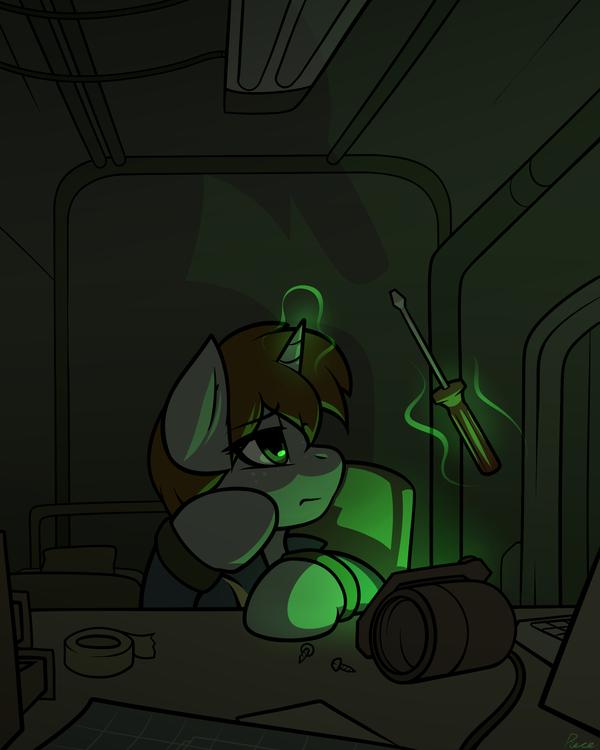 Ремонтница пипбаков. My little pony, Littlepip, Fallout: Equestria