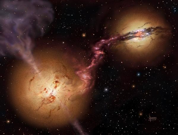 Излучение соседних галактик могло способствовать росту сверхмассивных черных дыр Черная дыра, Вселенная, Космос, Научные исследования, Астрономия, Гравитация, Коллапс