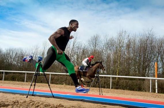 Британский легкоатлет оказался быстрее скаковой лошади Человек, Бег, Спорт, Лошади, Животные, Скорость, Видео