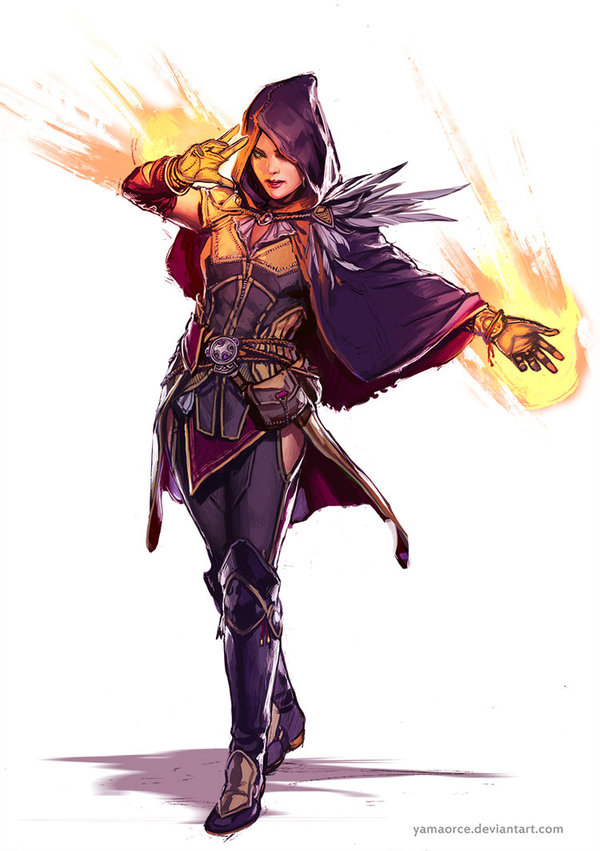 Sorceress Арт, Девушки, Волшебница