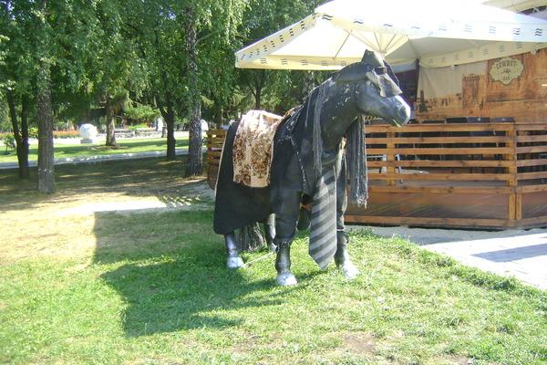 Конь в пальто Екатеринбург, Конь в пальто, парк, фотография