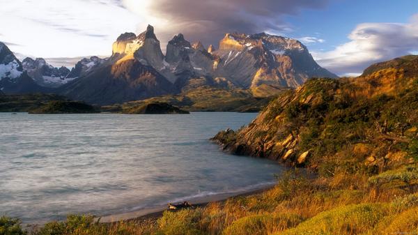 Национальный парк Торрес-дель-Пайне Чили, пейзаж, патагония, длиннопост
