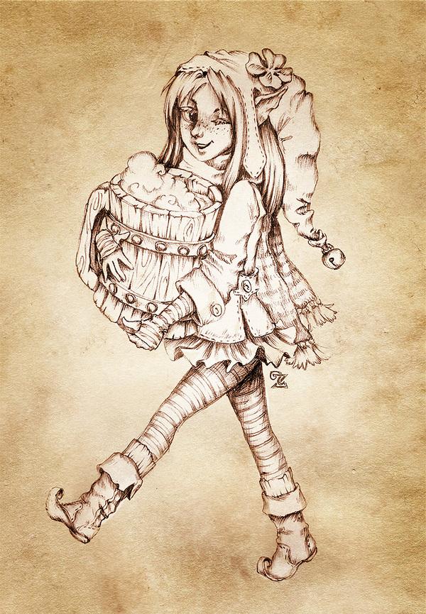 Дух праздника Uildrim, Арт, Пятничный тег моё, Фея, День святого патрика