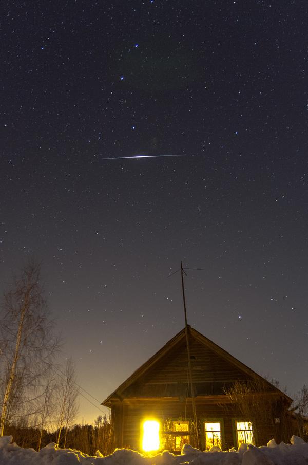 Вспышка Иридиума Небо, космос, вспышка иридиума, астрономия, астрофото, фотография