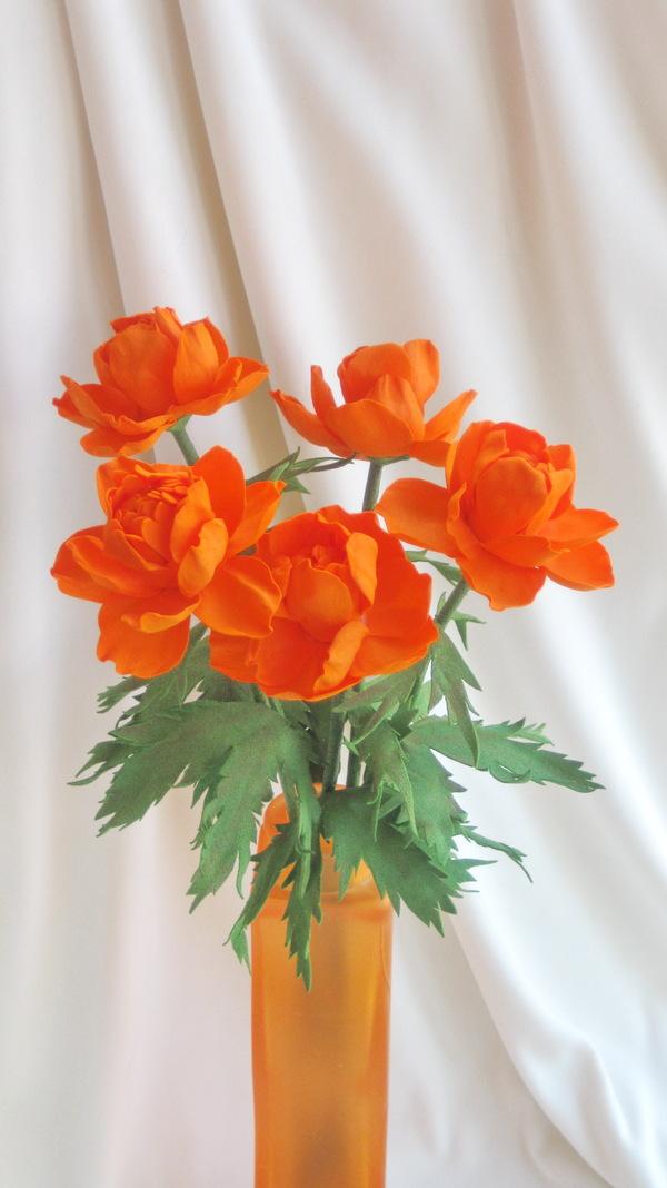 """""""Сибирская роза"""" огоньки, сибирскиецветы, ручная работа, своими руками, handmade, фоамиран, из фоамирана, цветы из фоамирана, длиннопост"""