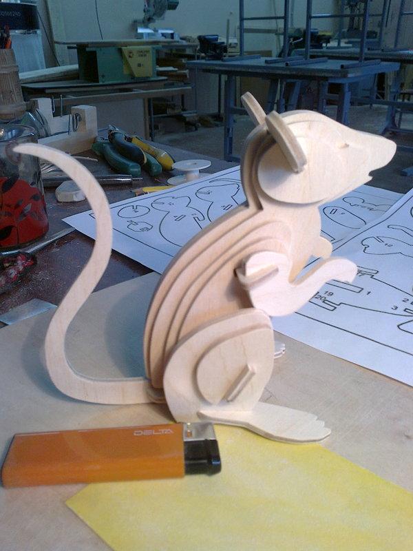 Фанера. Мышь. лобзик, фанера, ручная работа, длиннопост