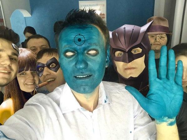 Сегодня Навального окатили зеленкой в Барнауле... Алексей Навальный, Duran, Хранители, Зеленка