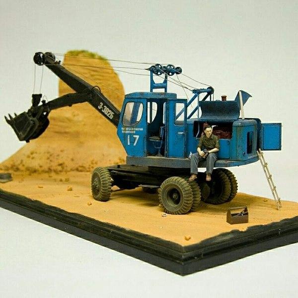 Масштабные модели строительной техники Хобби, Моделизм, Автомоделизм, Техника, Строительство, Строительная техника, Масштаб, Авто, Длиннопост