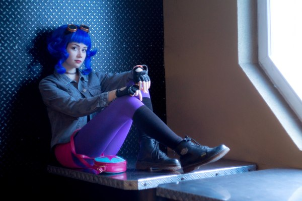 Порно модели с синими волосами фото — 11