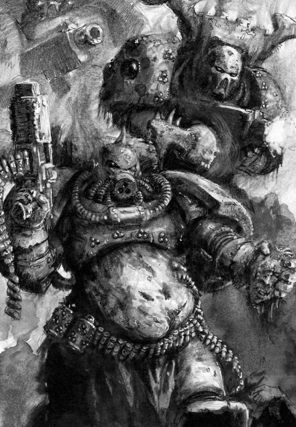 Гвардия Смерти Death Guard, Warhammer 40k, Хаос, Wh art, Chaos space marines, Old Warhammer, Длиннопост