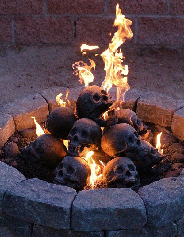 Поленья для костра (камина) в виде человеческих черепов. Полено, Череп, Костер, Длиннопост