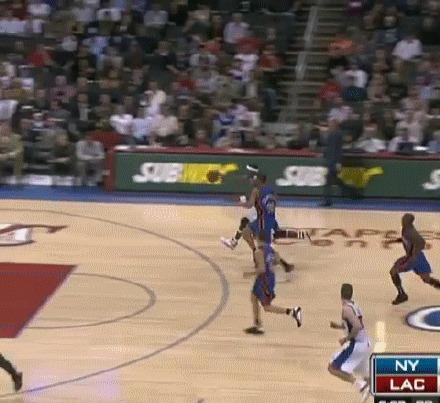 Вот это прыжок! Баскетбол, NBA, Нэйт Робинсон, NBA history, гифка