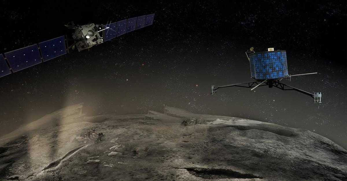 touchdown! rosettas philae probe lands on comet - 1280×720