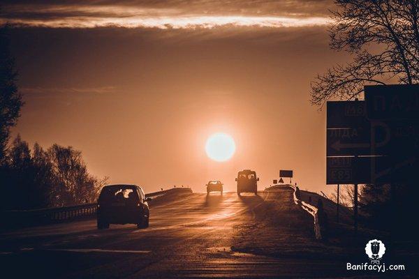 Рассвет Беларусь, Гродно, Лидия, авто, дорога, солнце, рассвет