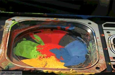Краски в колонке