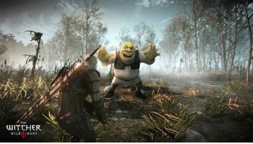 The Witcher 3 expansion pack Shrek