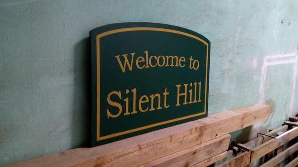 Вывеска Silent hill Silent hill, лазерная резка, своими руками, handmade