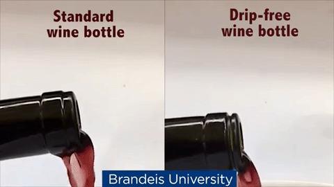 Идеальная конструкция бутылки вина Вино, ученые, открытие, гениально, гифка