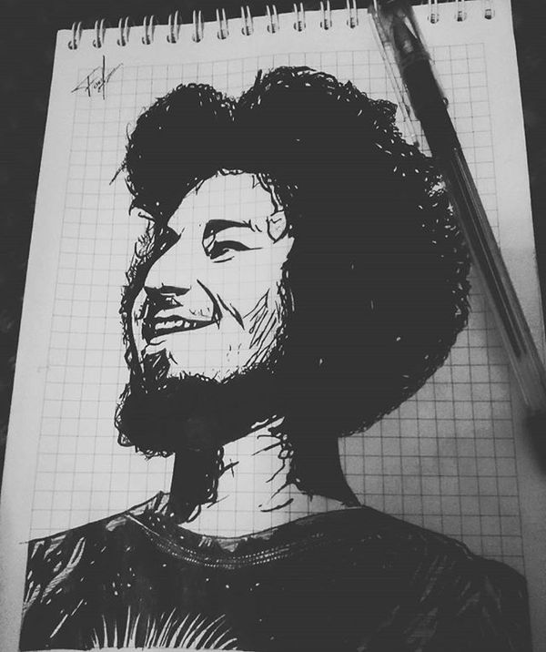 Просто портрет Портрет, Стасямба, Рисунок, Арт, Творчество, Рисованные друзья, Афро, Оцените