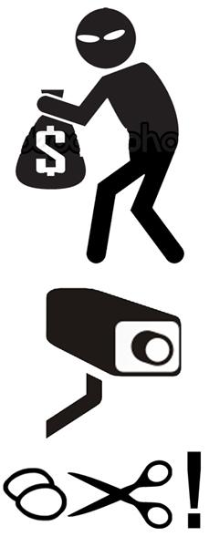 Предупреждение ворам на понятном языке ! Предупреждение, Вор, Кража, Знак, Охрана, Германия