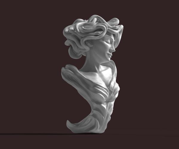 Горгона Медуза медуза горгона, zbrush, скульптура, длиннопост
