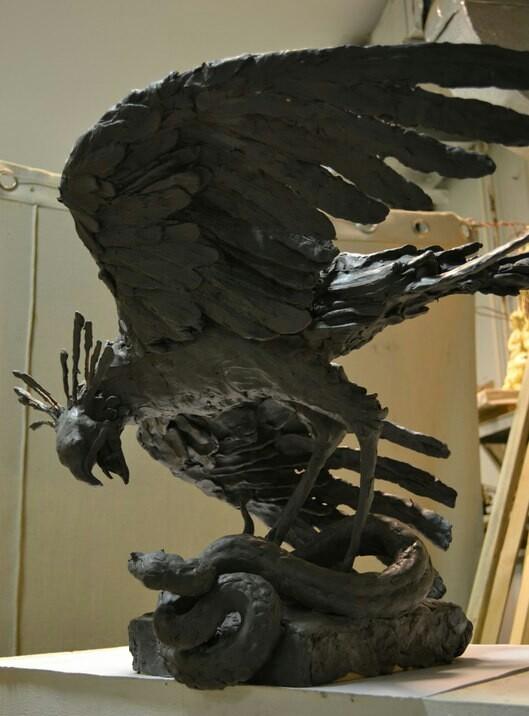 Птица секретарь и гадюка