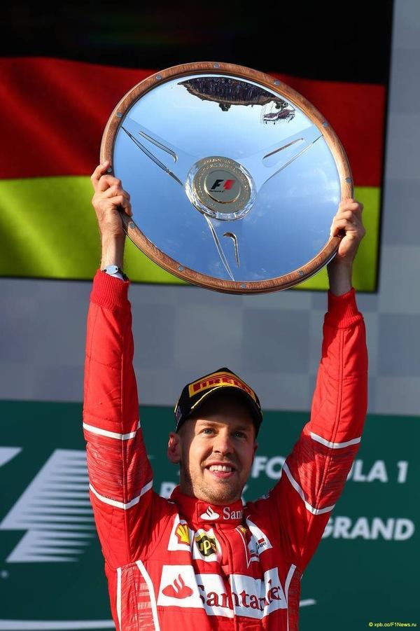 В первой гонке сезона Формулы 1 победил пилот Феррари четырехкратный чемпион мира Себастьян Феттель Формула 1, Гонки, Спорт, Не мерседес